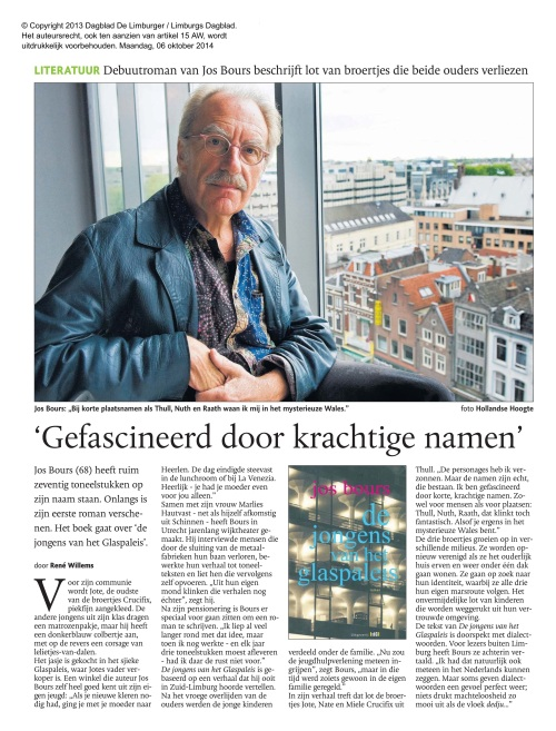 Limburgs Dagblad 6 - 10 -2014